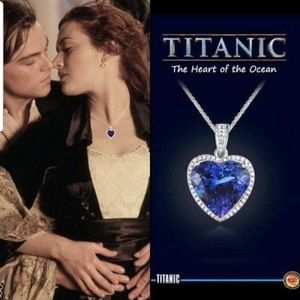 NEW Titanic Heart of Ocean Crystal Necklace